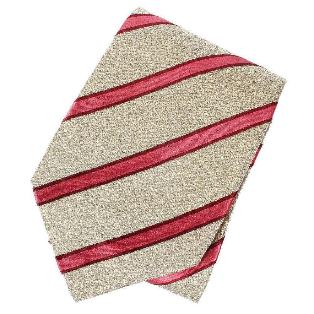 Серый шелковый галстук DKNY в полоску насыщенного розового цвета