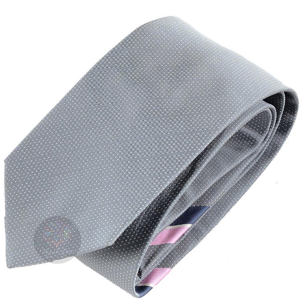 Галстук DKNY серый с бледно-розовой полоской