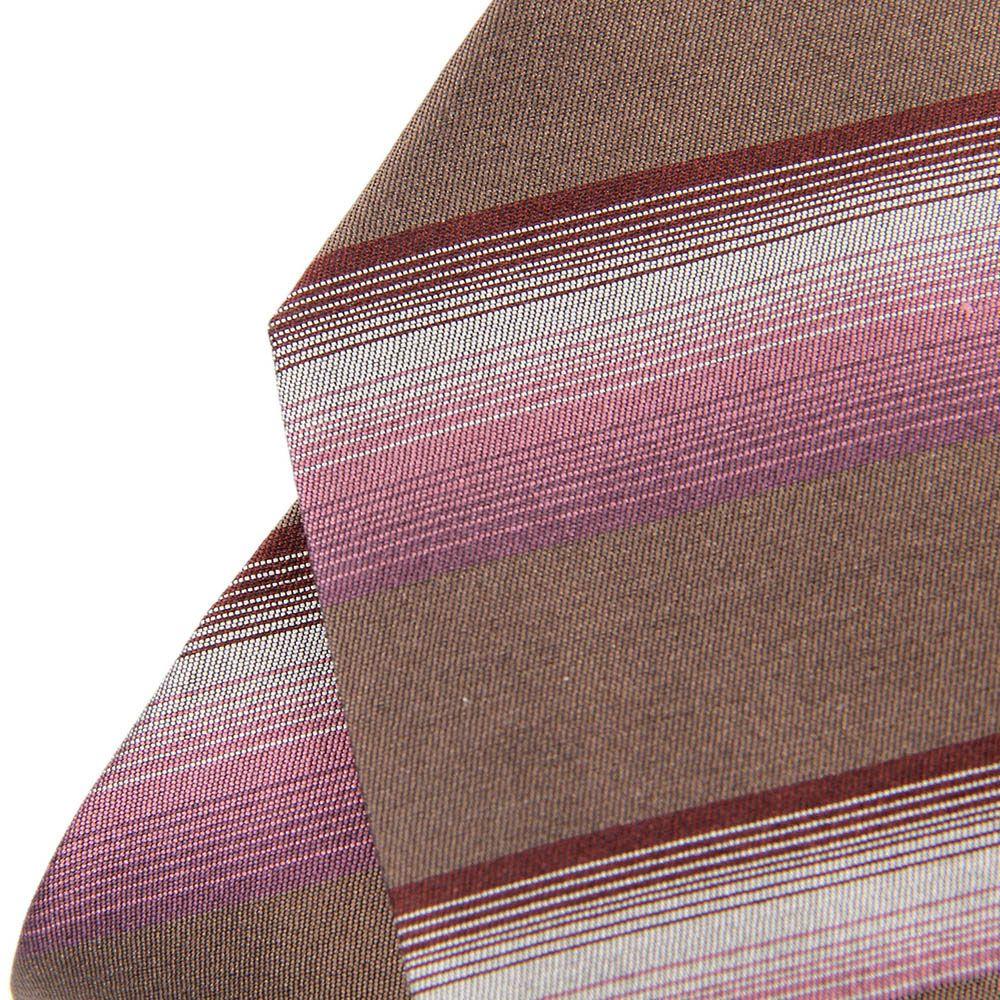 Коричневый галстук DKNY в бордовую и розовую полоски разной ширины