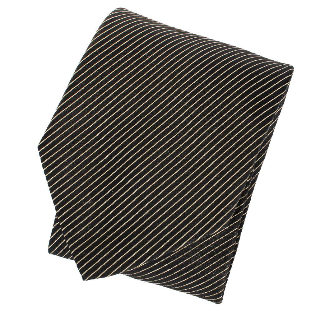 Галстук DKNY черного цвета с тонкими полосками