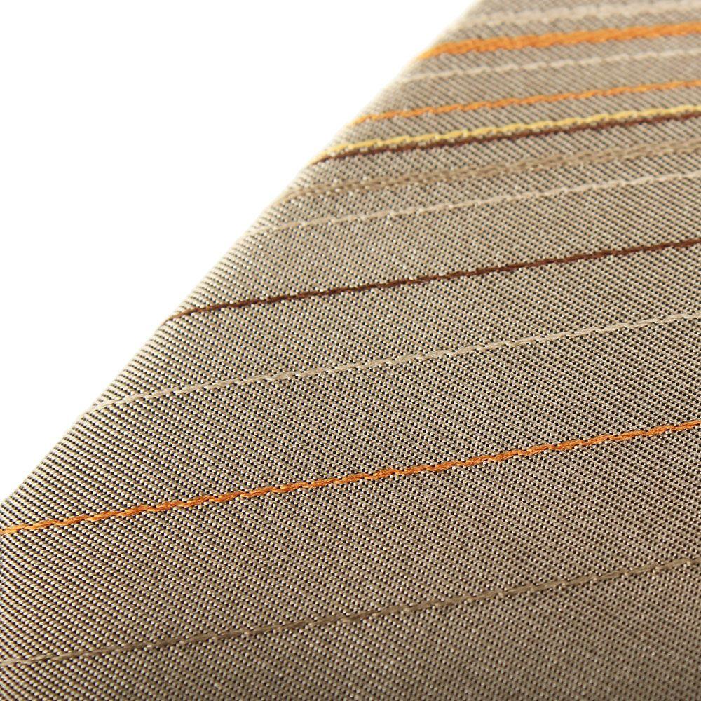 Галстук серого цвета DKNY в тонкую оранжевую полоску