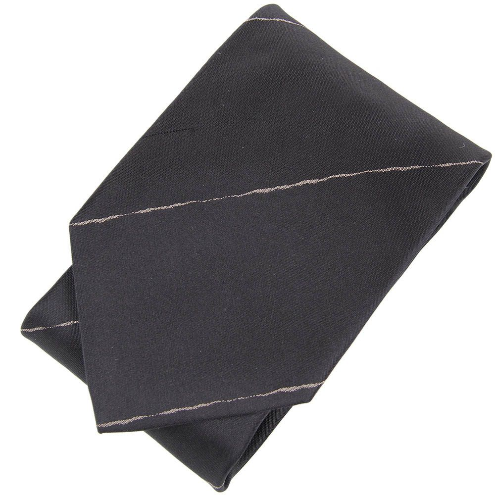 Черный галстук DKNY в узкую белую полоску