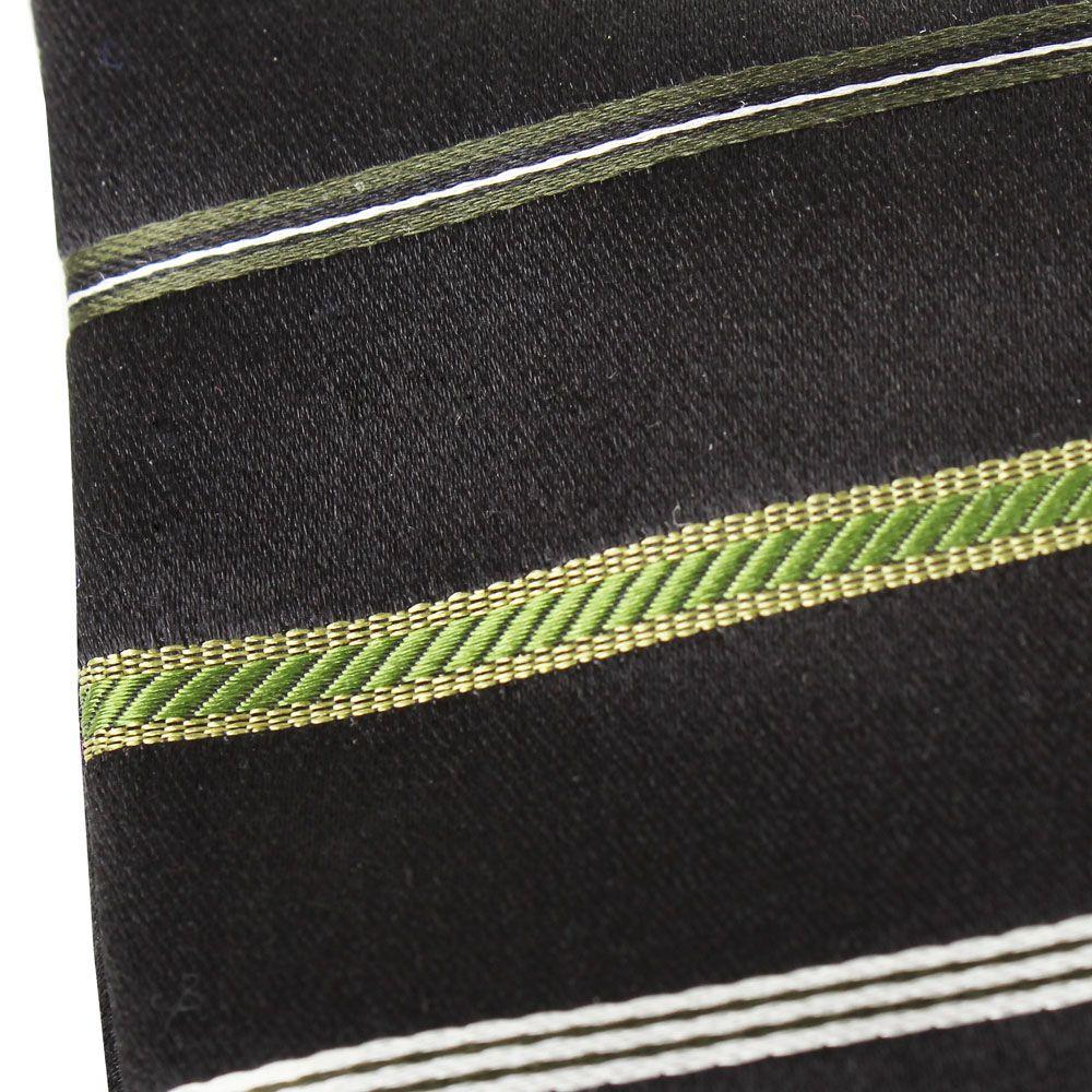 Галстук Nodus шелковый синего цвета в зеленую полоску