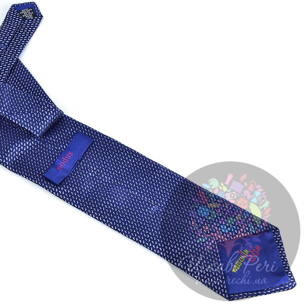 Галстук Nodus шелковый темно-синий с белыми вкраплениями