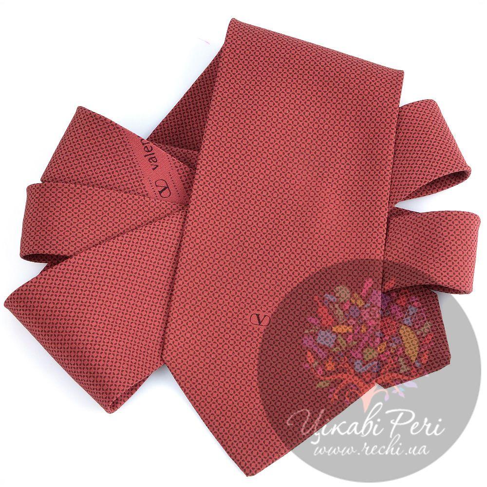 Галстук Valentino шелковый терракотово-красный