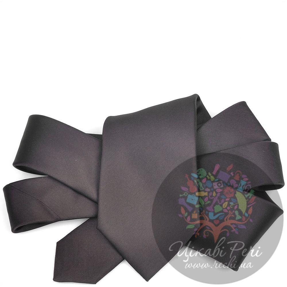 Галстук Valentino шелковый гладкий темно-коричневый