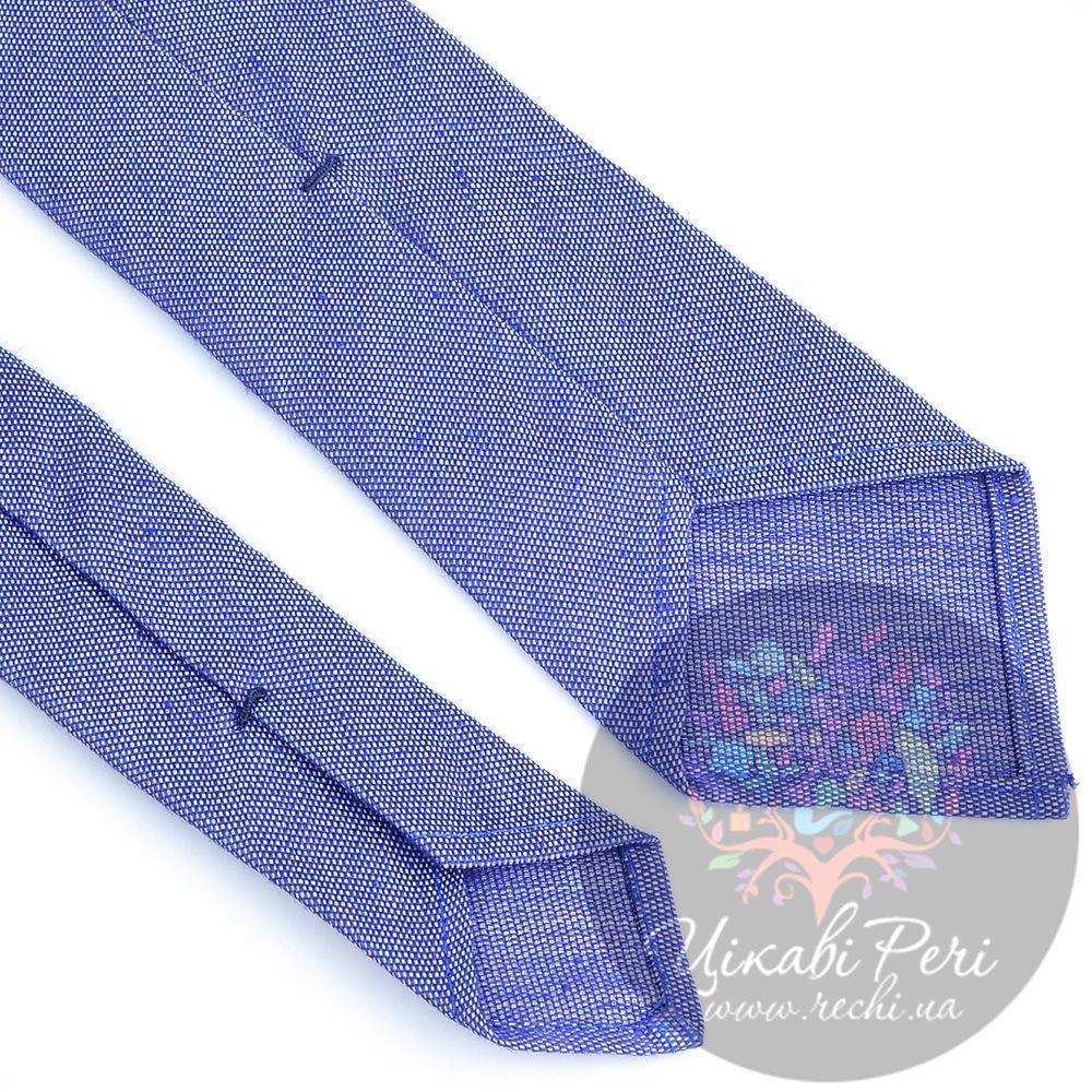 Галстук Valentino шелковый бело-синий