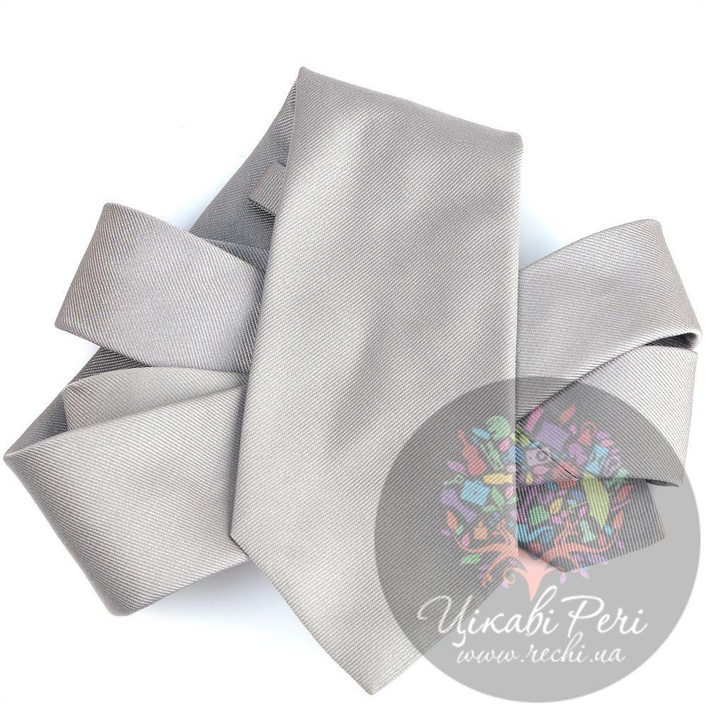 Галстук Valentino шелковый светло-серый