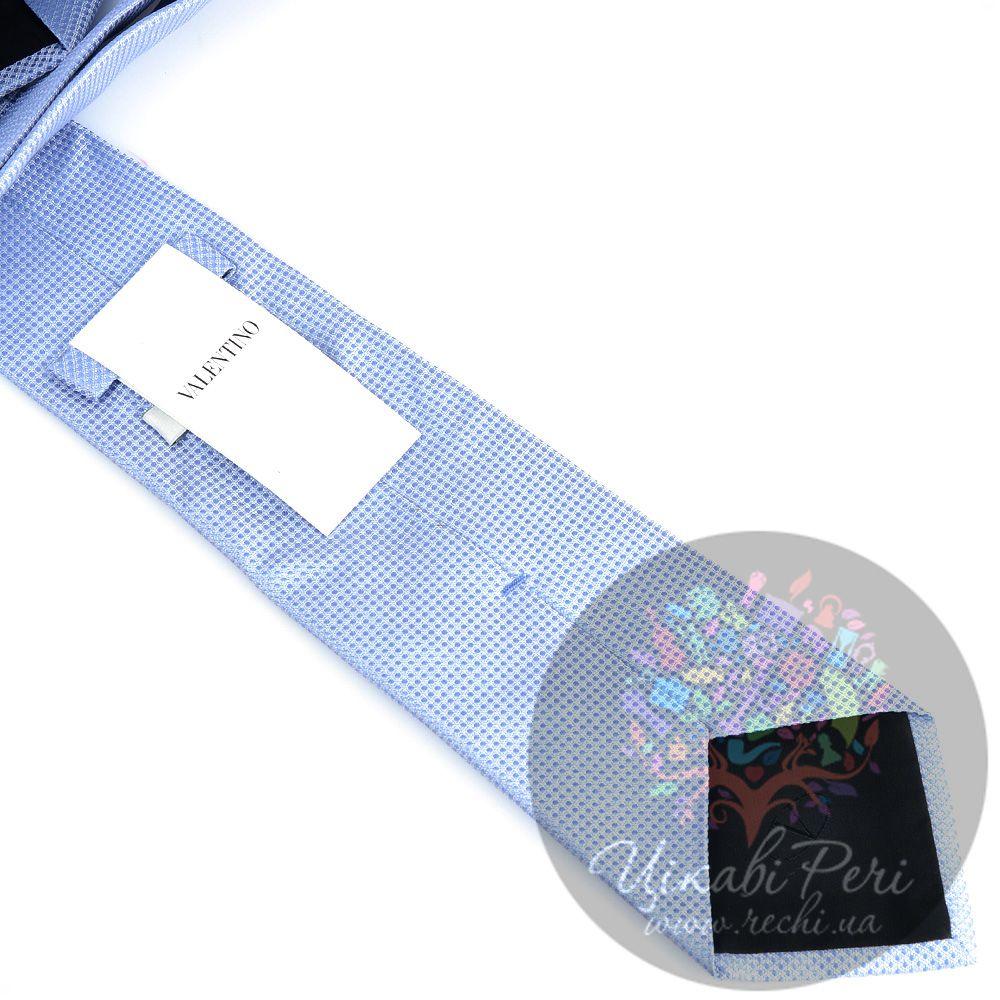 Галстук Valentino шелковый голубой