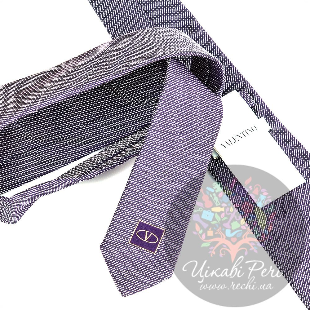 Галстук Valentino шелковый пурпурно-белый