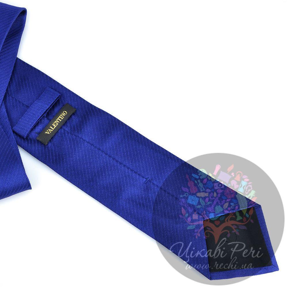 Галстук Valentino шелковый ярко-синий