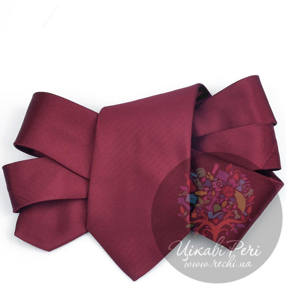 Галстук Valentino шелковый гладкий винного цвета
