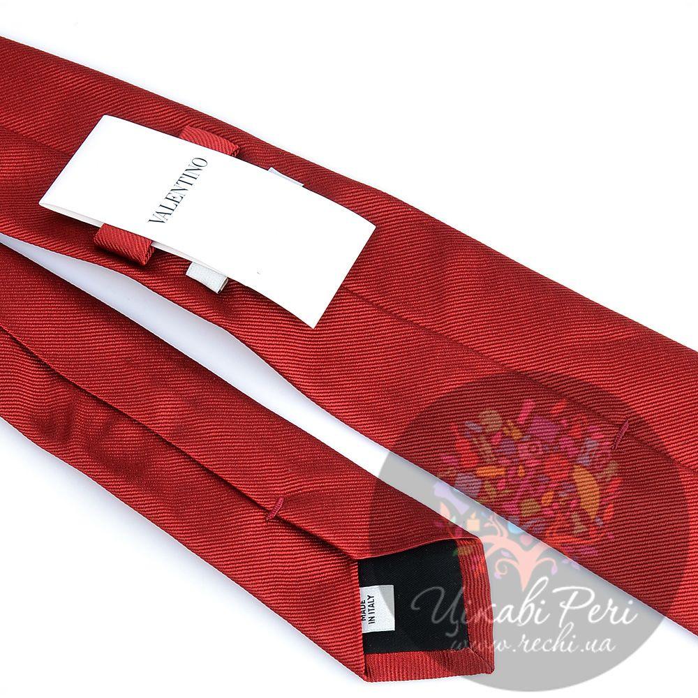 Галстук Valentino шелковый темно-красный