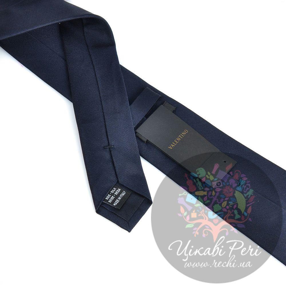 Галстук Valentino шелковый черный гладкий