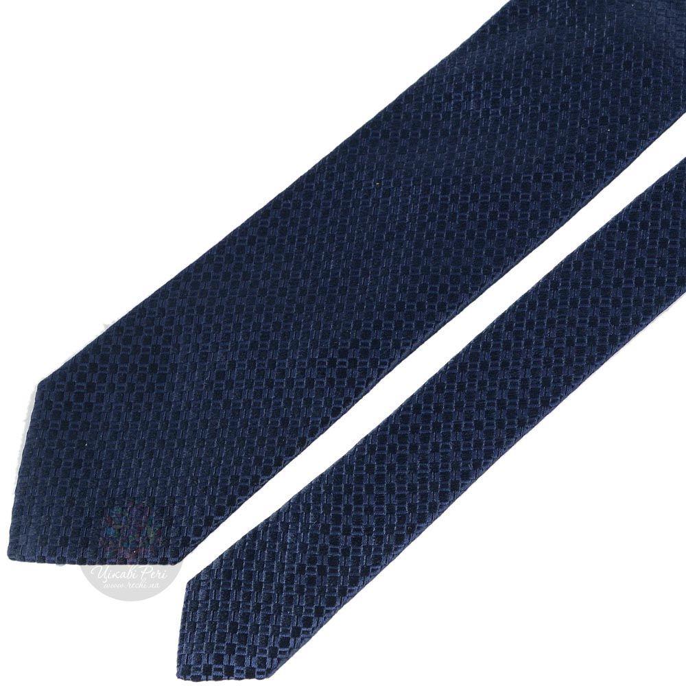 Галстук Trussardi синий с имитацией переплетения
