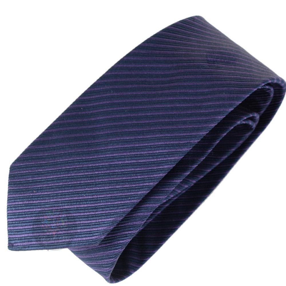 Галстук Trussardi синий в тонкую сиреневую полоску
