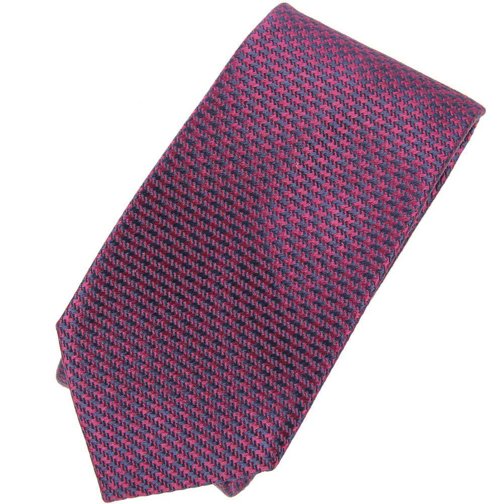 Галстук Trussardi бордово-фиолетового цвета фактурный