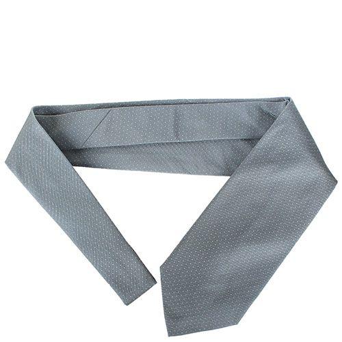 Галстук DKNY серого цвета в мелкую белую точку, фото