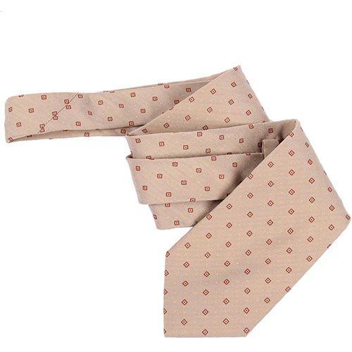 Бежевый галстук DKNY в красные квардратики, фото