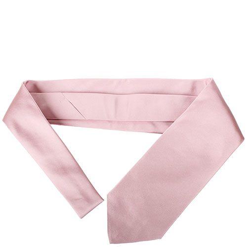 Галстук DKNY шелковый светло-розового цвета, фото