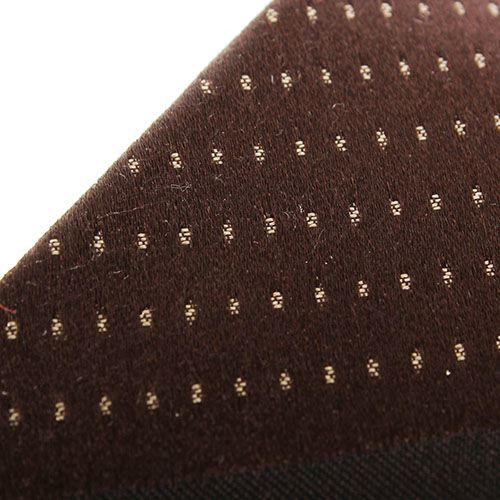 Галстук DKNY коричневого цвета в синюю полоску с мелкими точками, фото