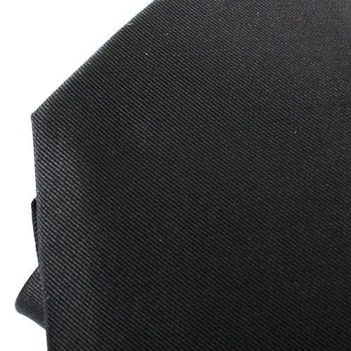 Черный галстук DKNY в тонкую разноцветную полоску, фото