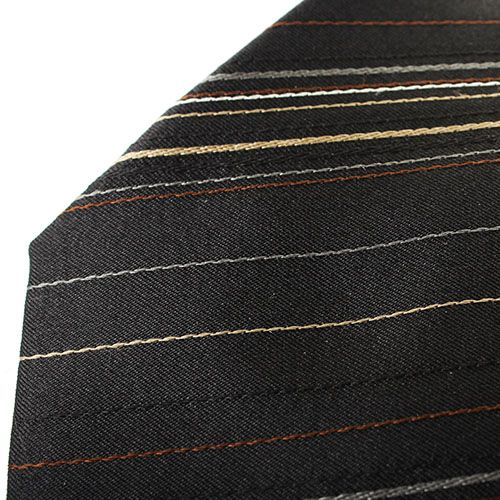 Галстук DKNY черного цвета с тонкими полосками, фото