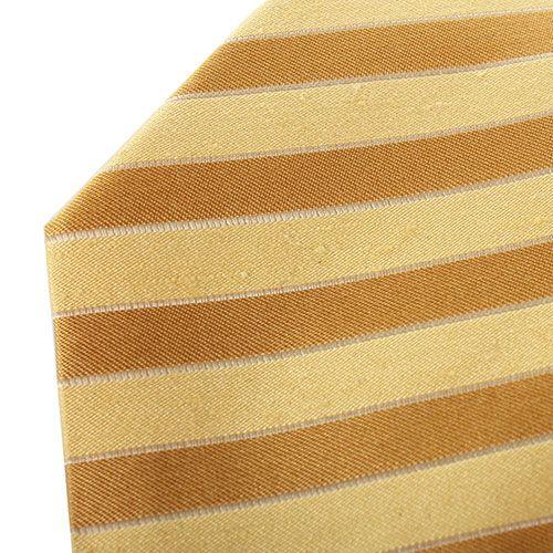 Желтый галстук DKNY в полоску медового цвета, фото