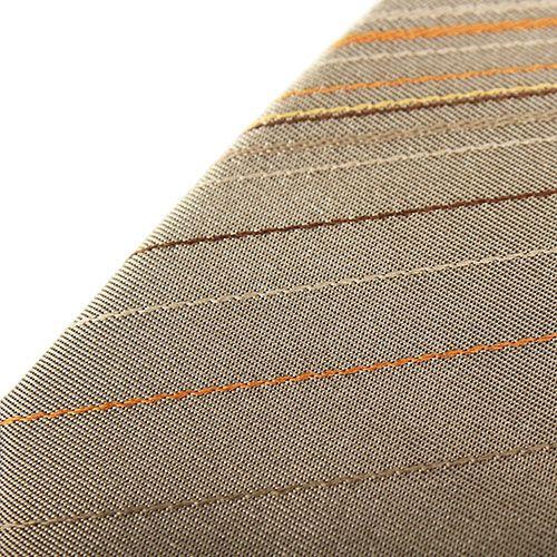 Галстук серого цвета DKNY в тонкую оранжевую полоску, фото