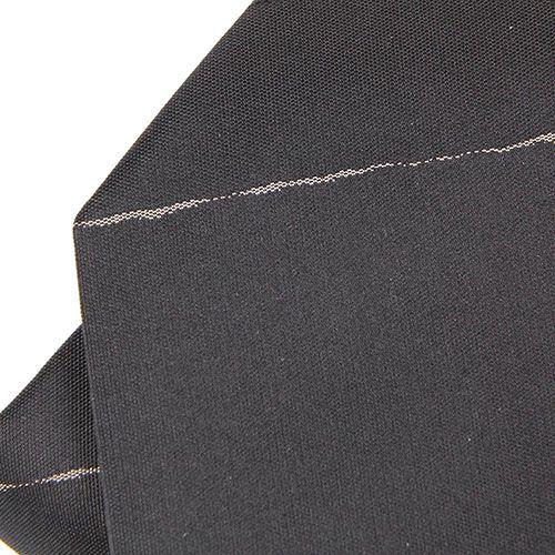 Черный галстук DKNY в узкую белую полоску, фото