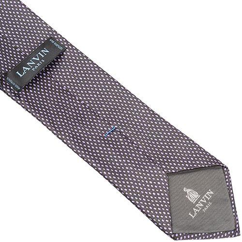 Шелковый галстук Lanvin лилово-серый с рисунком, фото