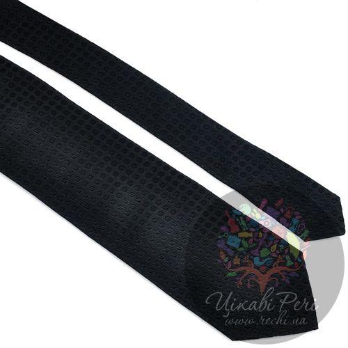 Галстук Trussardi шелковый элегантный черный, фото