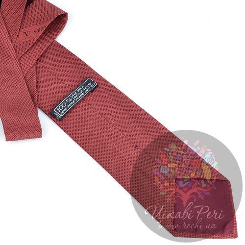 Галстук Valentino шелковый терракотово-красный, фото