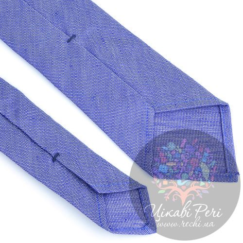 Галстук Valentino шелковый бело-синий, фото