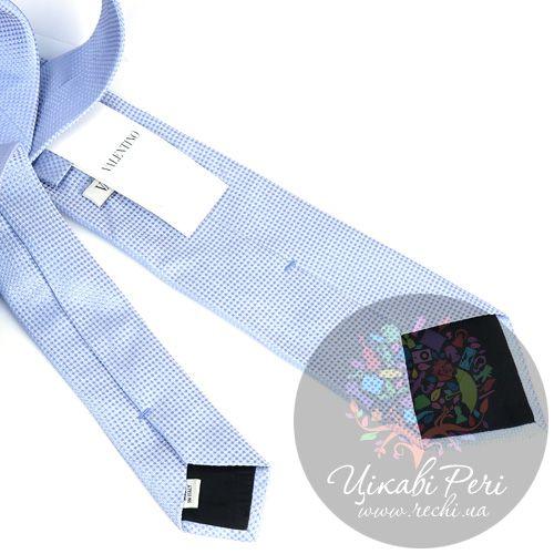 Галстук Valentino шелковый голубой, фото