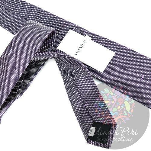 Галстук Valentino шелковый пурпурно-белый, фото