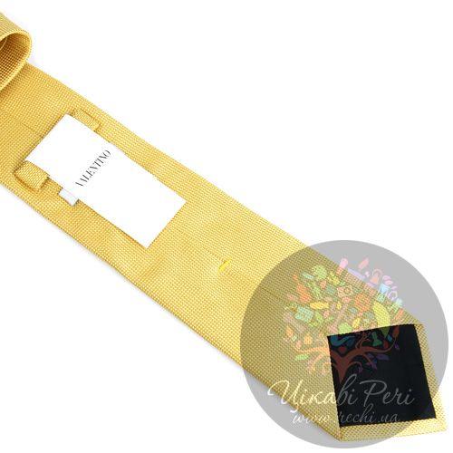 Галстук Valentino шелковый желтый, фото
