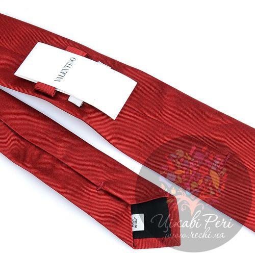 Галстук Valentino шелковый темно-красный, фото
