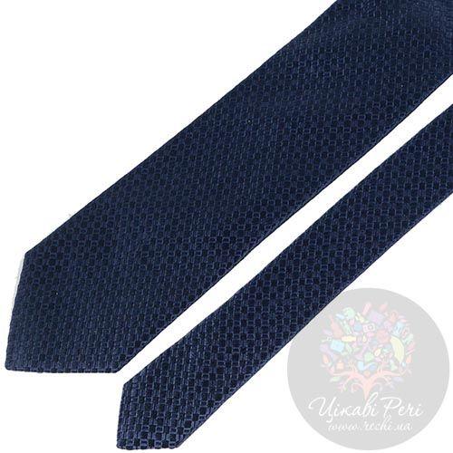 Галстук Trussardi синий с имитацией переплетения, фото