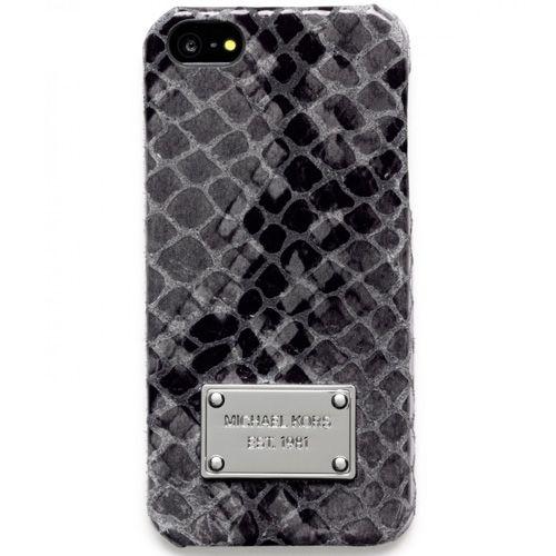 Чехол MICHAEL Michael Kors для iPhone с серебристой имитацией кожи змеи, фото