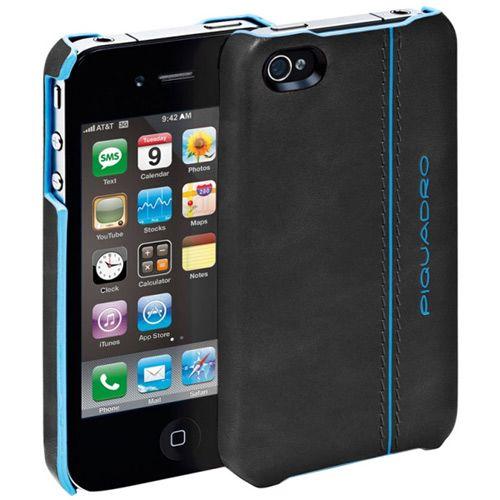 Чехол для iPhone Piquadro Blue Square черный, фото