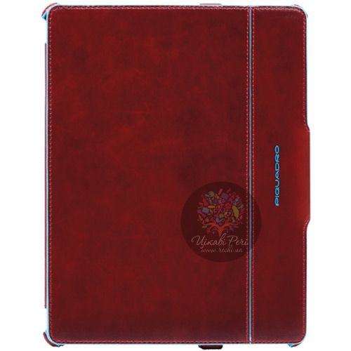 Чехол Piquadro Blue Square для iPad 2 из натуральной кожи красный, фото