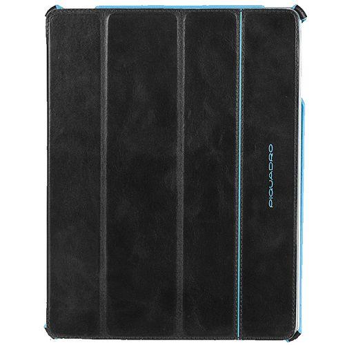 Чехол Piquadro Blue Square для iPad 2/New iPad из кожи черного цвета, фото