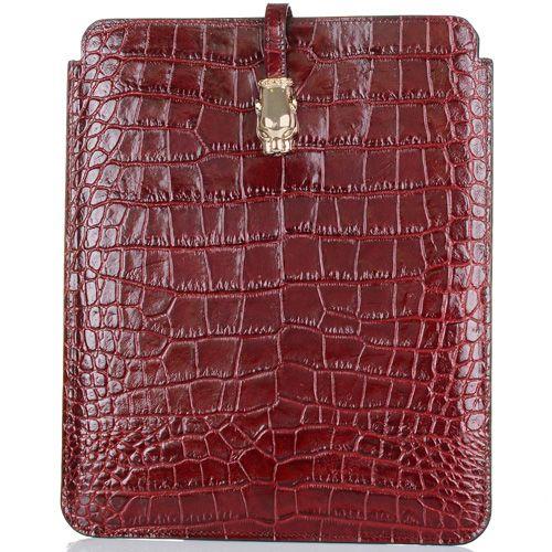 Чехол для iPad Cavalli Class Daphne кожаный бордовый, фото