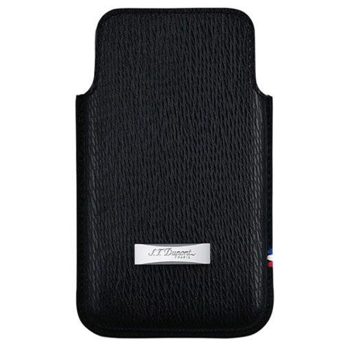 Чехол S.T.Dupont для iPhone 5 из кожи черного цвета, фото