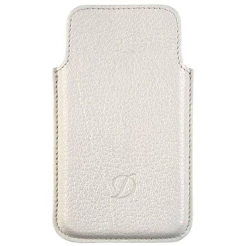 Белый кожаный чехол S.T.Dupont для iPhone 5, фото