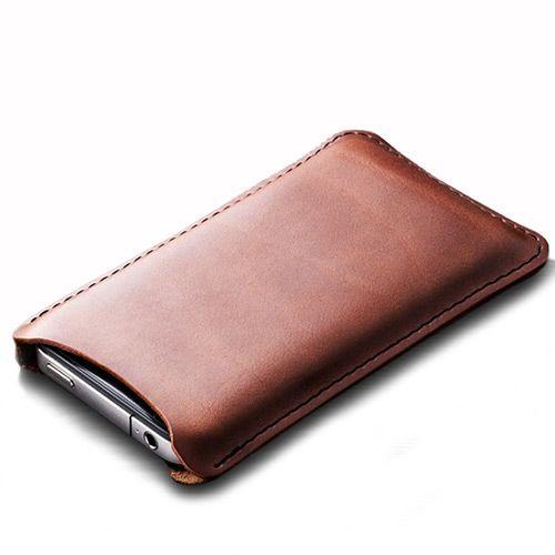 Чехол Moreca для iPhone4 из натуральной кожи коричневый , фото