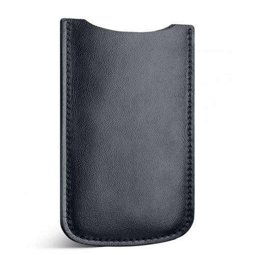 Кожаный черный чехол Moreca для iPhone 5, фото