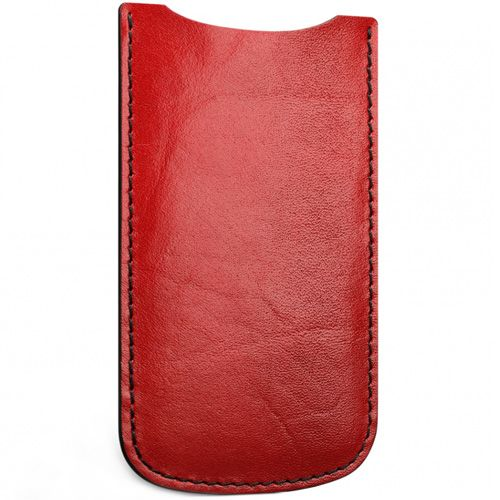 Кожаный красный чехол Moreca для iPhone 5, фото