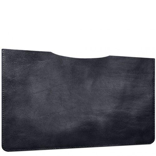 Черный кожаный чехол Moreca Black для MacBook Air 11, фото